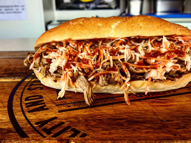 KOBI Pulled Pork Sandwich