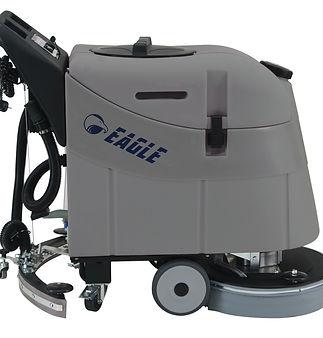Compact scrubber drier