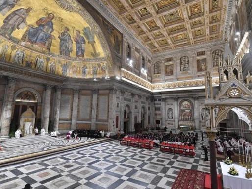 Calendário das celebrações presididas pelo Papa Francisco