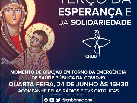 Terço da Esperança e da Solidariedade desta quarta será direto do Santuário Nacional de Aparecida