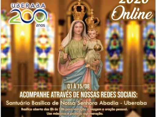 Santuário Basílica em Uberaba terá programação online para a tradicional festa da Abadia