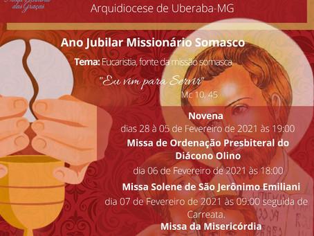 Paróquia em Uberaba celebra festa em louvor à São Jerônimo Emiliani