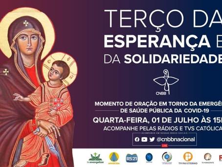 Reze pelo Brasil com o Terço da Esperança e da Solidariedade, nesta quarta-feira, às 15h30