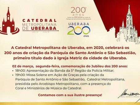 Catedral Metropolitana de Uberaba celebra seus 200 anos de criação