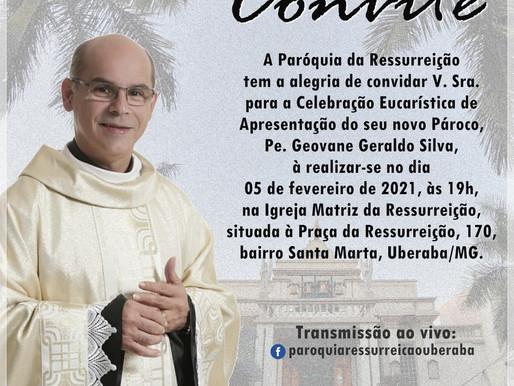 Novas apresentações de párocos para o mês de fevereiro