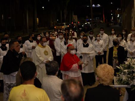 Cardeal Dom Raymundo Damasceno visita a Paróquia São Domingos de Gusmão, em Araxá/MG