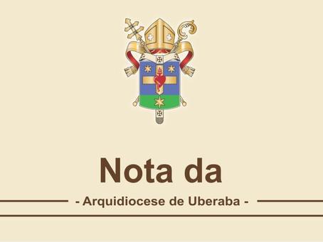 """Arquidiocese de Uberaba entra nos critérios da """"Onda Roxa"""", emitido pelo governo estadual de MG"""