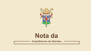 Nota da Arquidiocese de Uberaba - Novo Comunicado Mediante Republicação do Decreto nº 674