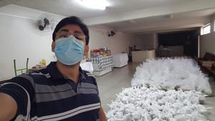 Doação da Adveniat possibilita a doação de 130 cestas básicas para famílias da Arquidiocese