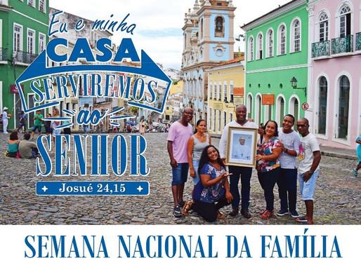 Semana Nacional da Família promovida pela CNBB acontece de 9 a 15 de agosto