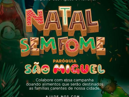 """Paróquia São Miguel Arcanjo, em Nova Ponte, realiza a campanha para o """"Natal Sem Fome"""""""