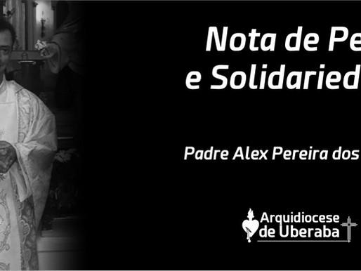 Arquidiocese de Uberaba comunica o falecimento do Padre Alex Pereira dos Santos