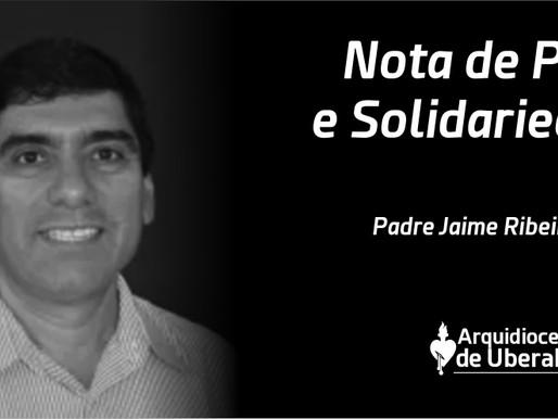 Arquidiocese de Uberaba comunica o falecimento do Padre Jaime Ribeiro da Silva