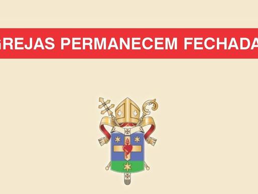 Nota Oficial da Arquidiocese de Uberaba - Igrejas Fechadas