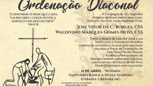 Arquidiocese de Uberaba ordena dois diáconos no mês de abril