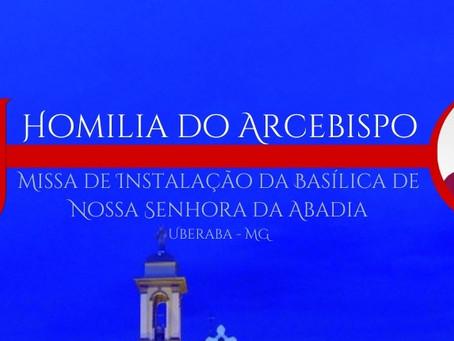 Instalação da Basílica da Abadia (16 de julho de 2021)
