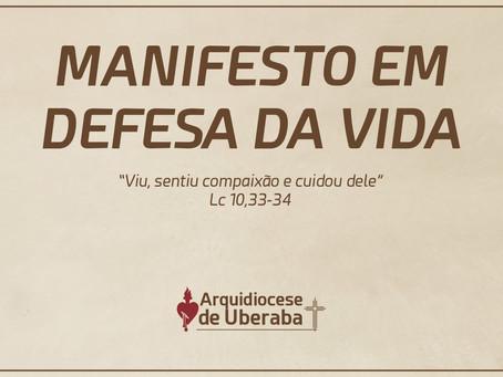 Manifesto em Defesa da Vida - Arquidiocese de Uberaba