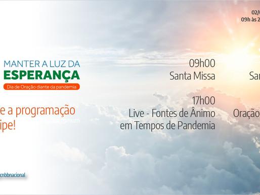 CNBB promove, nesta terça-feira (2), Dia de Oração diante da pandemia da covid-19