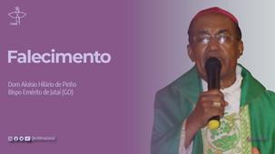 Morre Dom Aloísio Hilário de Pinho, bispo emérito de Jataí (GO)
