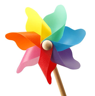 Colorful pinwheel isolated on white back
