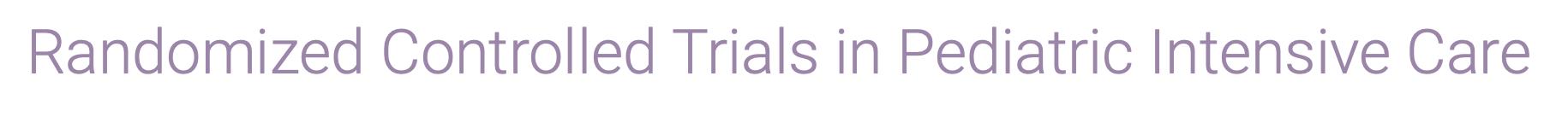 PICU Trials