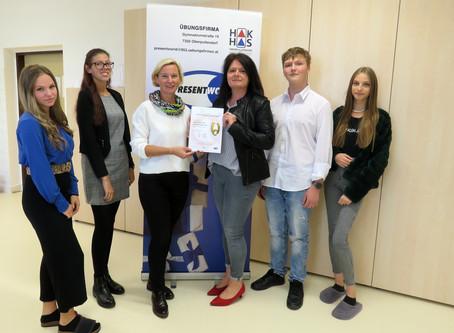 Übungsfirma in der HAK Oberpullendorf offiziell zertifiziert