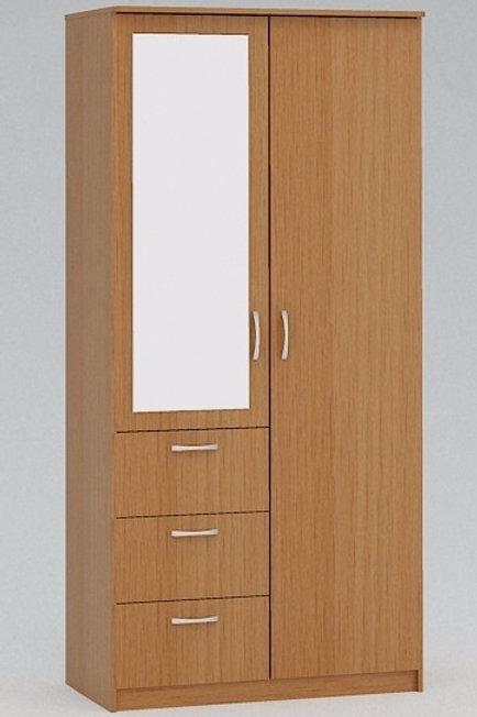 Распашной шкаф с ящиками на заказ в Красноярске. Цвет БУК