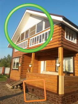отделка сайдингом, остеклние балкона
