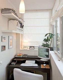 Мини кабинет на балконе
