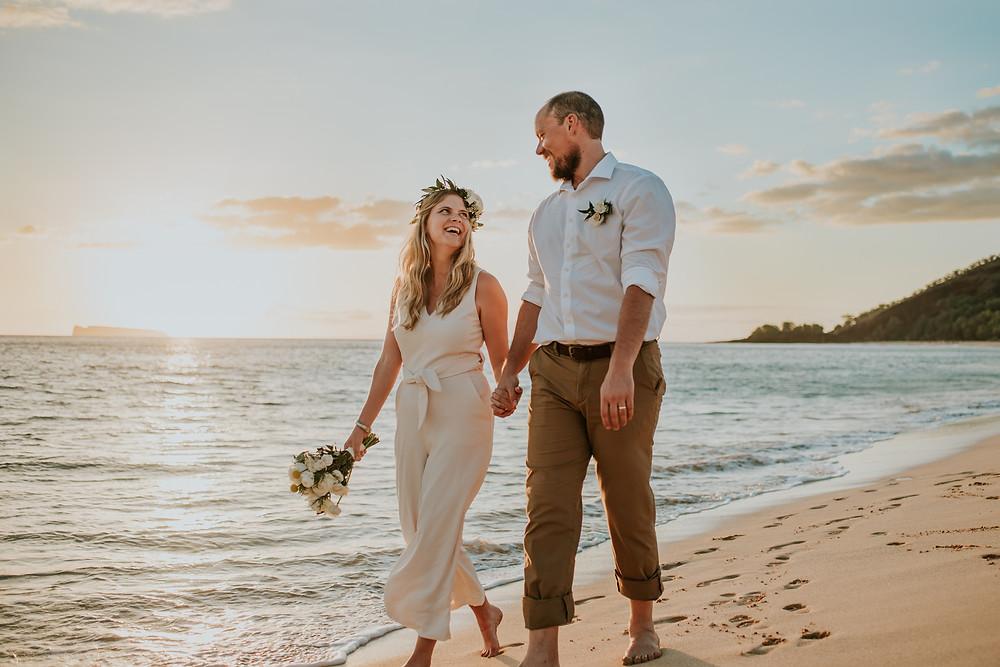 maui hawaii beach elopement