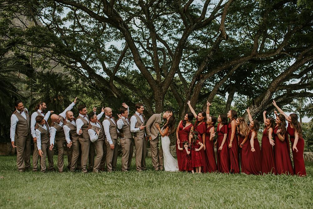 oahu tropical wedding