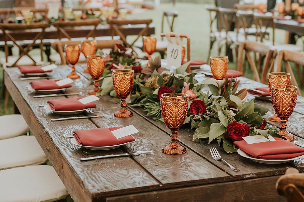 amber glasses for wedding