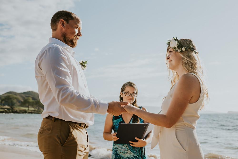 Makena cove beach wedding maui