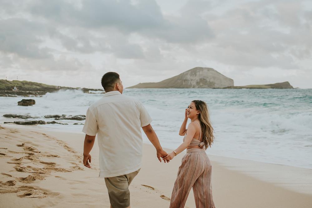 Oahu hawaii couples photography