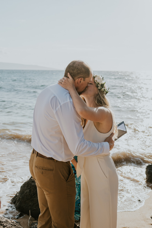 beach wedding in maui