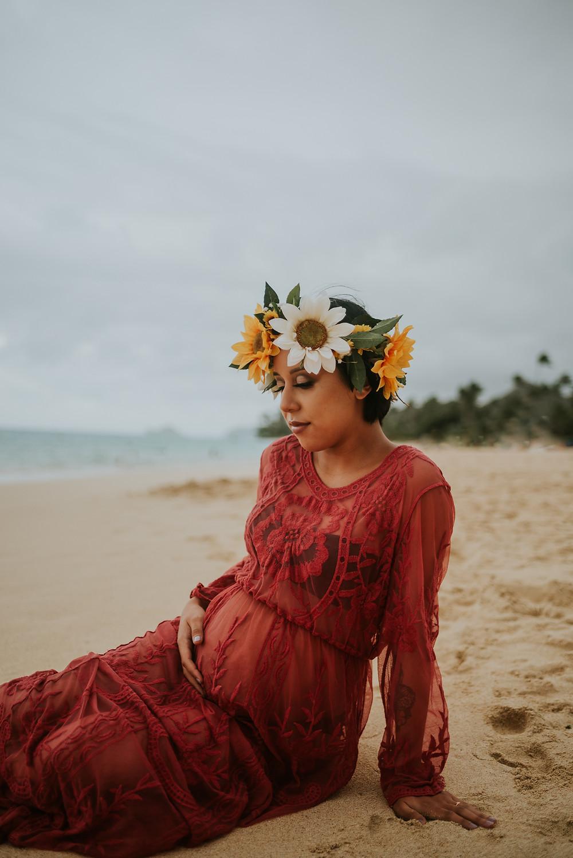 honolulu hawaii maternity beach session