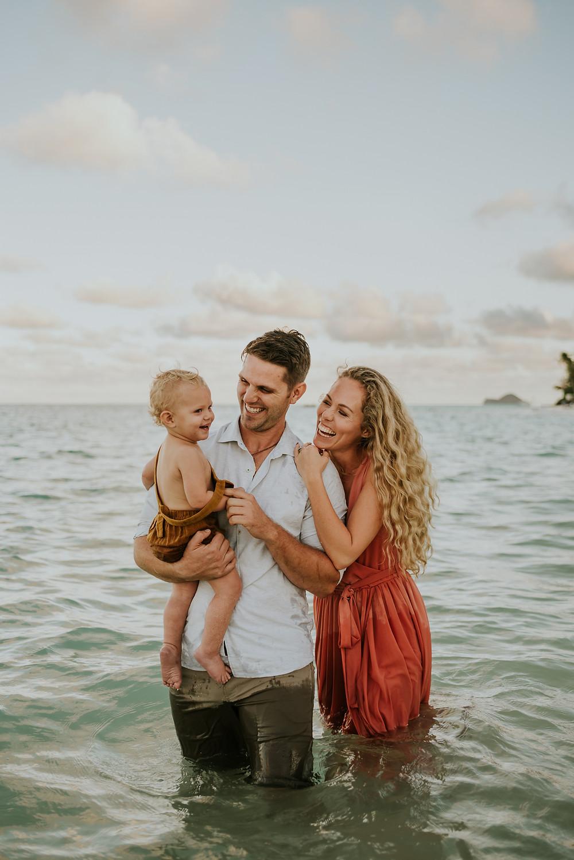 Lanikai beach family photoshoot