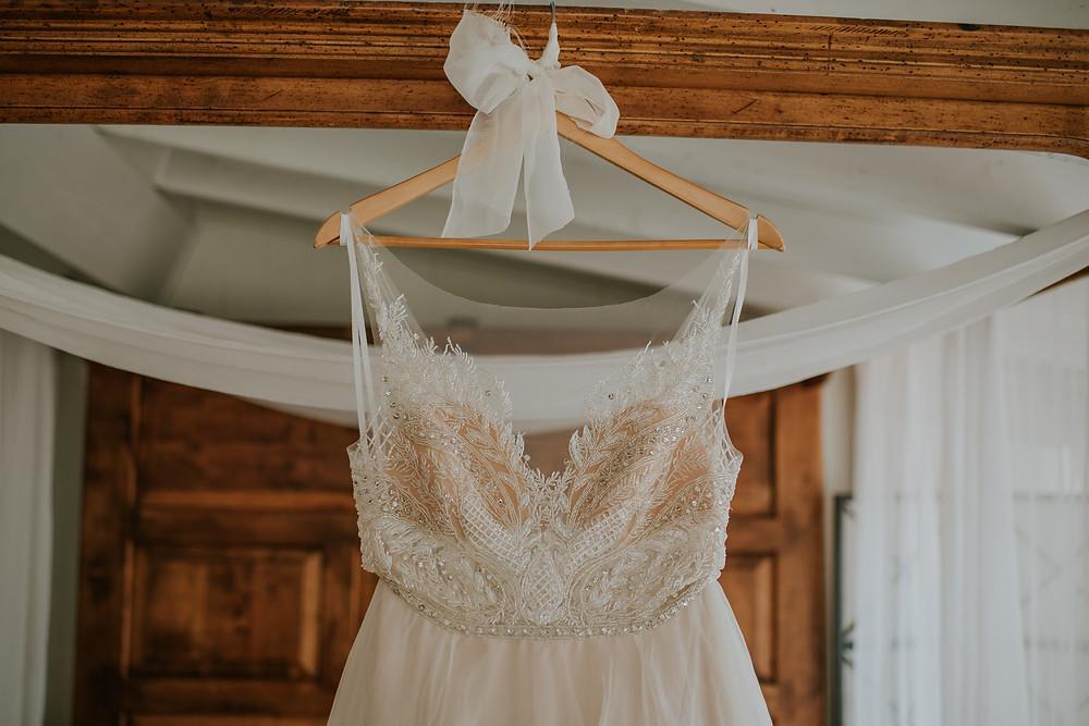 lace and diamond wedding dress