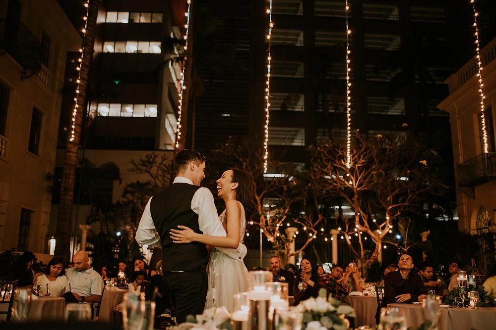 Candle lit wedding in Honolulu Hawaii
