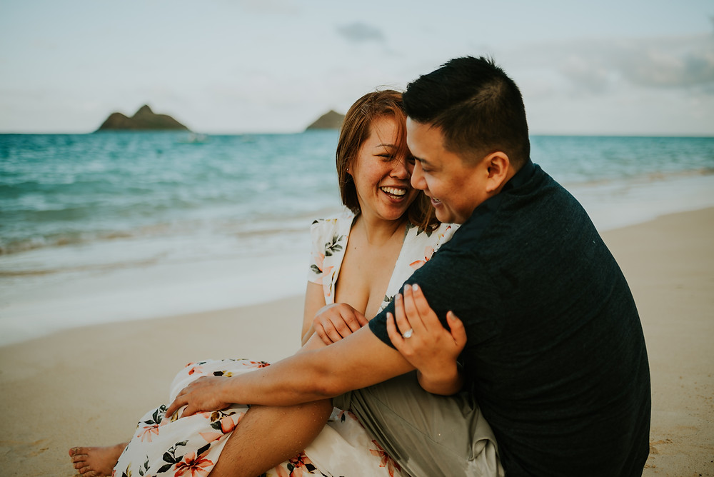 lanikai beach couples session