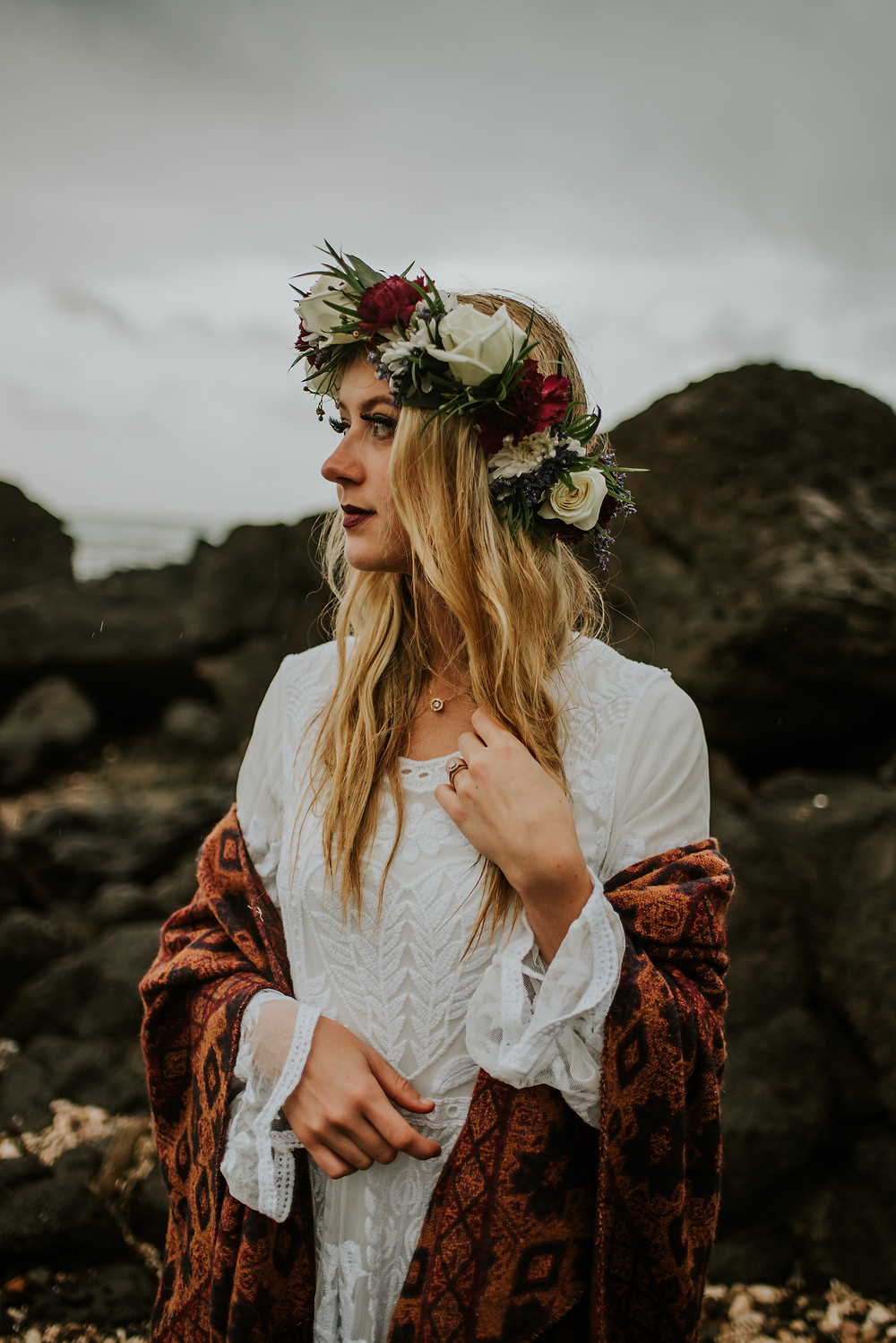 Oahu hawaii beach elopement