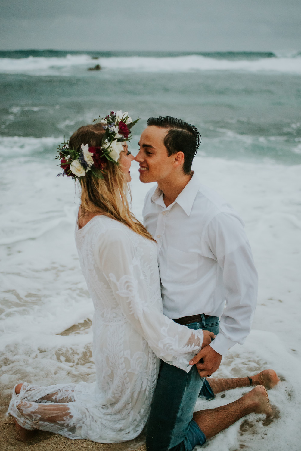 hawaii beach elopement
