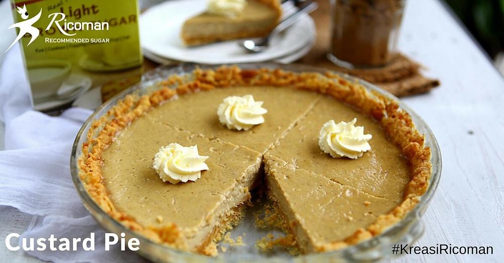 [Ricoman resep] brown sugar custard pie
