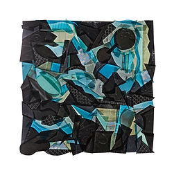 BLACK WITH TOUCHES OF BLUE AND GREEN __1