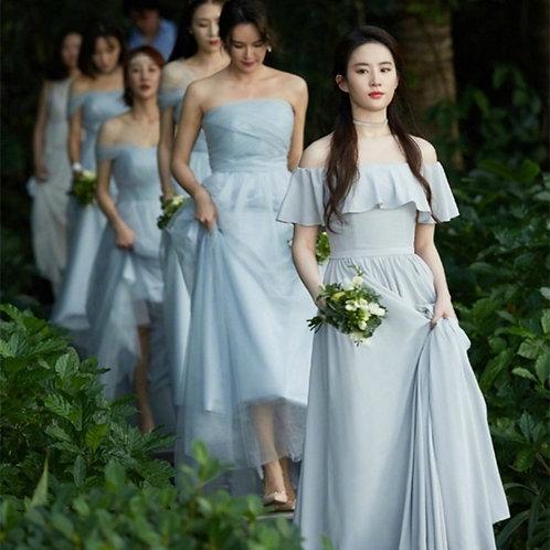 Smoky Blue - Bridesmaid Dresses Rental