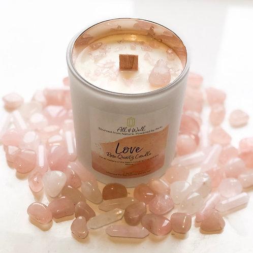 Love - Rose Quartz Candle
