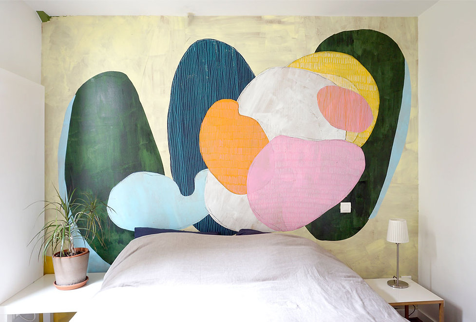 fresque papiers découpés sur mesure marc dannaud chambre