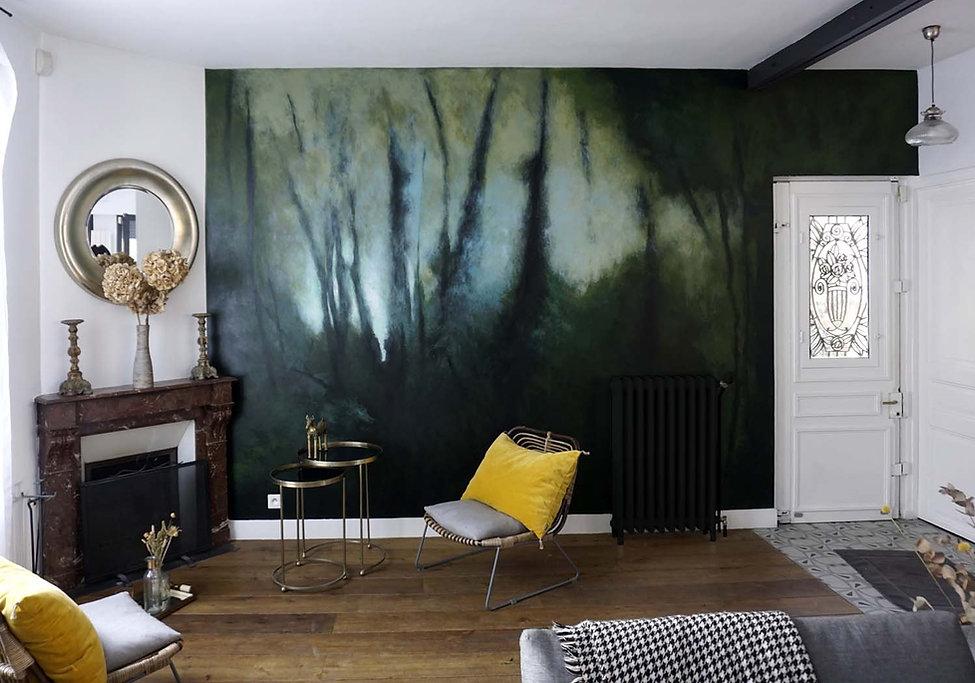 fresque sur mesure forêt wallart marc dannaud