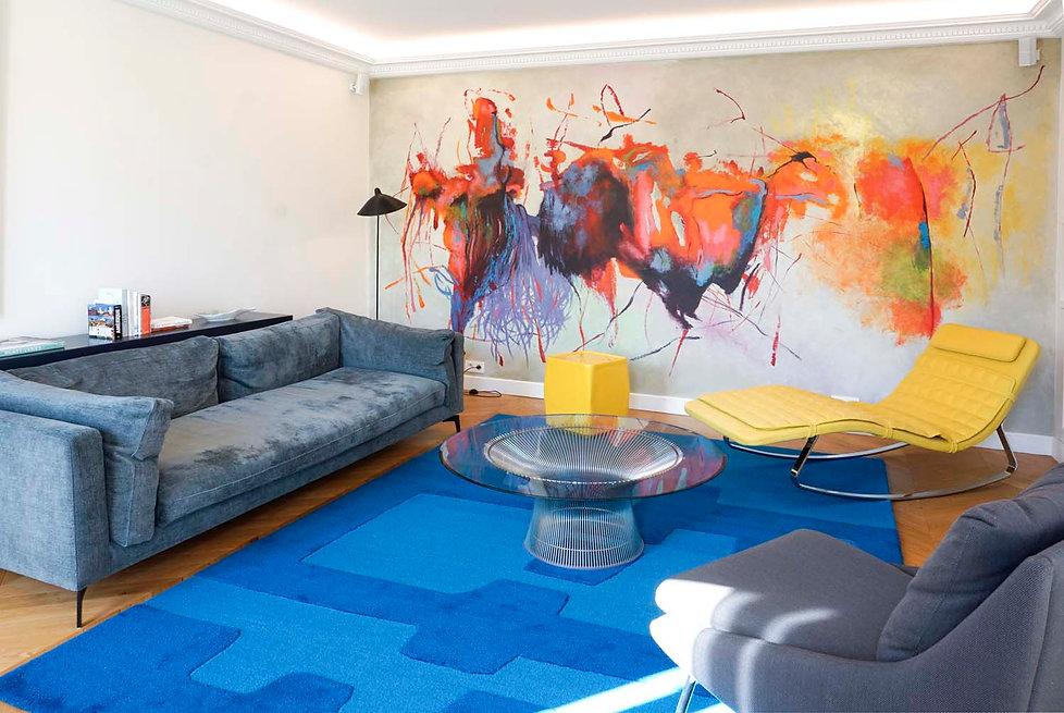fresque sur mesure colorée Marc Dannaud