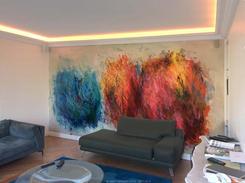 Peintures simulation 6 buissons ardents.